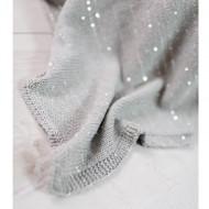 BIZZI GROWIN pledas 70x90cm Silver Sparkle BG013 BG013