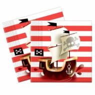 Servetėlės Powerful Pirates 33x33 cm 20 vnt, 88160 88160