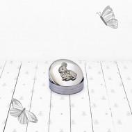 BABYBLOOMS dekoratyvinė dėžutė English Pewter Trinket Box Bunny PEWT0105