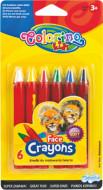 COLORINO KIDS veido puošybos kreidelės, 6 spalvos, 32629PTR 32629PTR