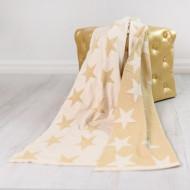 BIZZI GROWIN pledas 70x90cm Gold Star BG003 BG003